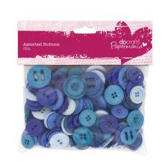 Docrafts Blue Assorted Buttons Pack 250g