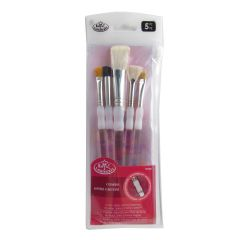 Royal & Langnickel Soft Grip Brush 5 Piece Texture Set