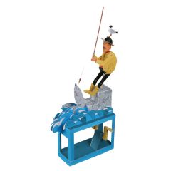 Paper Automaton Kit Good Fishing. Art & Craft Paper Creative Moving Kit