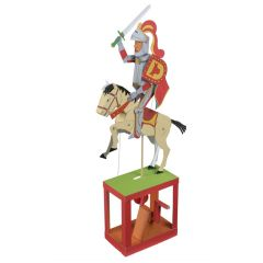Paper Automaton Kit RED KNIGHT. Art & Craft Paper Creative Moving Kit