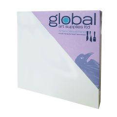 "Global Artists Wooden Panel Gesso Primed 18mm Deep 12"" x 12"""