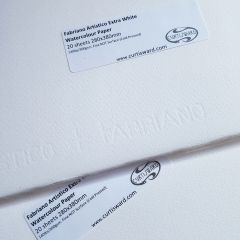 Fabriano Extra White Artistico Cold Pressed Watercolour Paper 380x280mm 20 Sheet Pack 300gsm