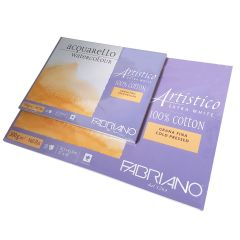 Fabriano Artistico Watercolour Extra White Cold Pressed (NOT) Paper Blocks