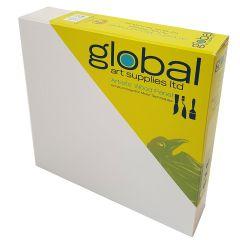"Global Artists Wooden Panel Gesso Primed 38mm Deep 16"" x 16"""