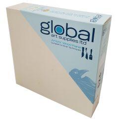"""Global Artists Wooden Panel Natural Unprimed 38mm Deep 10"""" x 10"""""""