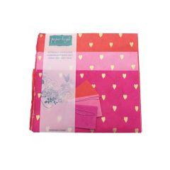 Handmade Lokta Giftwrap Pack Hearts 3 Sheet Pack