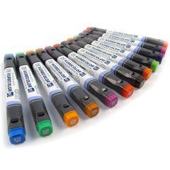 Zig Kurecolor Twin S Marker Pen KC-3000N Set of 12 Brilliant Colours