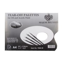 Tear-Off Palettes for Oil and Acrylic A4 (297 X 210mm) 40 Sheets
