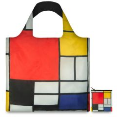 LOQI Museum Collection Tote Bag 'Composition with Red, Yellow, Blue and Black'