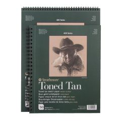 Strathmore Series 400 Toned Tan Sketch Paper Spiral Bound Pads