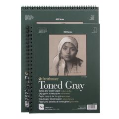 Strathmore Series 400 Toned Grey Sketch Paper Spiral Bound Pads