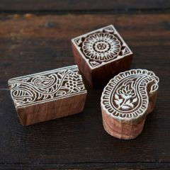 Paper High Assorted Wooden Stamps Set of 3