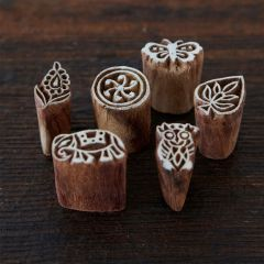 Paper High Assorted Wooden Stamps Set of 6