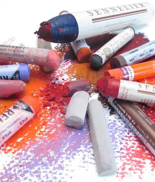 A selection of Oil and Soft Chalk Pastels
