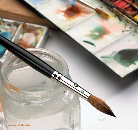 Working in Watercolour using a Series 7 Kolinsky Sable Brush
