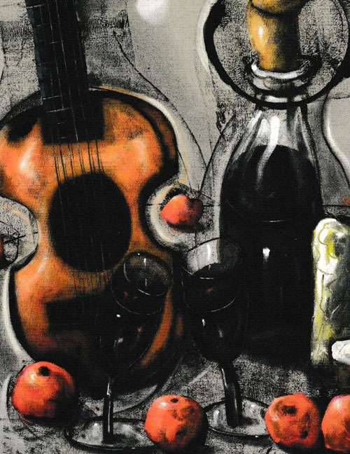 Section from 'Still Life with Guitar & Wine' by Chris Gollon