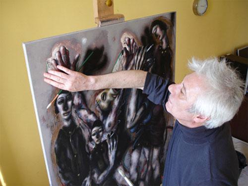 Chris Gollon in his studio