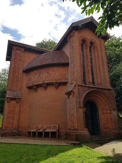 The Exterior of Watts Chapel in Compton, Surrey