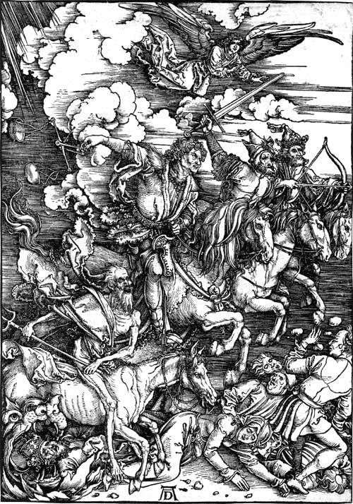 The Four Horseman of the Apocalypse by Albrecht Durer