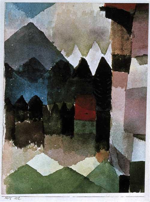 Föhn im Marc'schen Garten by Paul Klee