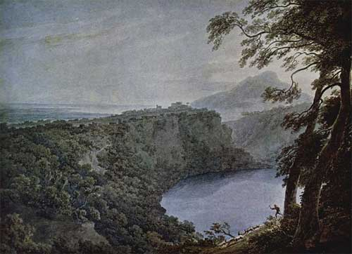 Lake Nemi by John Robert Cozens