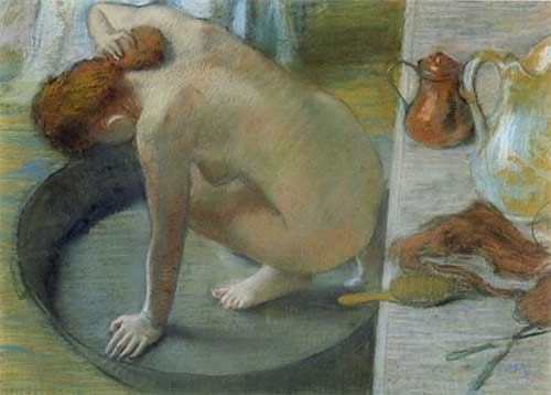 The Bath Tub by Edgar Degas