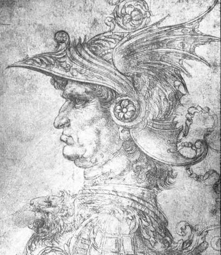 Head of a Warrior by Da Vinci