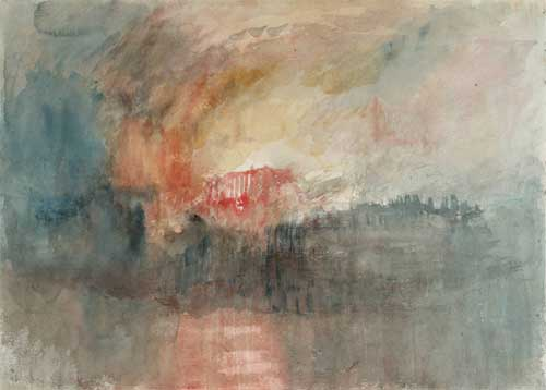 Fire at the Tower of London by J M W Turner
