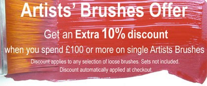 Artist Brush Offer