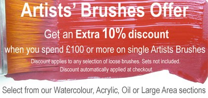 Artists Brushes Offer