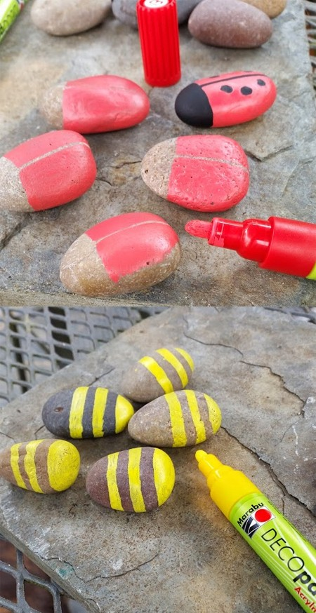 Deco Painter Pens work perfectly on pebbles