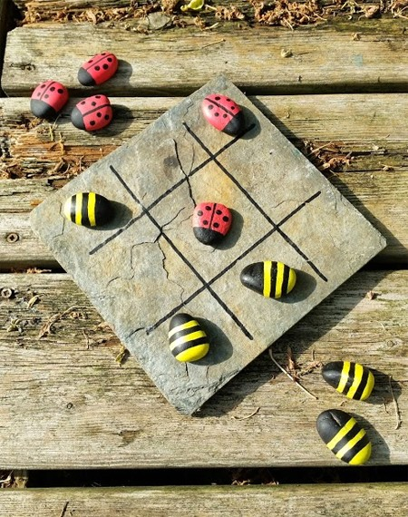 Outdoor boardgame such as Noughts and Crosses